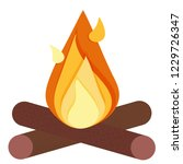 bonfire colored icon. element... | Shutterstock .eps vector #1229726347