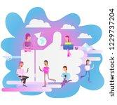 modern flat design concept of... | Shutterstock .eps vector #1229737204