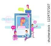 modern flat design concept of... | Shutterstock .eps vector #1229737207