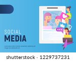 modern flat design concept of... | Shutterstock .eps vector #1229737231