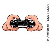 hand holding vector illustration | Shutterstock .eps vector #1229742307