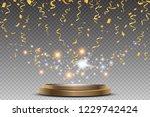 colorful bright confetti and...   Shutterstock .eps vector #1229742424