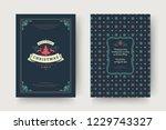 christmas greeting card design... | Shutterstock .eps vector #1229743327