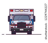 front view of ambulance car...   Shutterstock .eps vector #1229744227