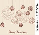 christmas ball | Shutterstock . vector #122974744