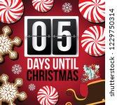 countdown to christmas flip...   Shutterstock .eps vector #1229750314