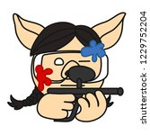 emoji with paintball game pig... | Shutterstock .eps vector #1229752204
