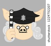 emoji with road police... | Shutterstock .eps vector #1229752207