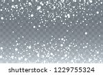 realistic snow background.... | Shutterstock .eps vector #1229755324