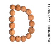 letter d made with nuts to form ... | Shutterstock . vector #1229756461