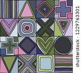 geometric vector seamless...   Shutterstock .eps vector #1229763301