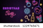christmas party poster or... | Shutterstock .eps vector #1229765671