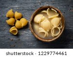 high angle view of a rustic...   Shutterstock . vector #1229774461