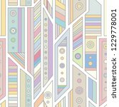 geometric vector seamless...   Shutterstock .eps vector #1229778001