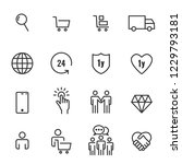 ecommerce icons vector | Shutterstock .eps vector #1229793181