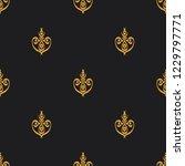 seamless decorative vector... | Shutterstock .eps vector #1229797771