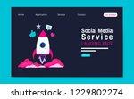 social media service landing... | Shutterstock .eps vector #1229802274