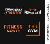 set of fitness club logo vectors   Shutterstock .eps vector #1229802337