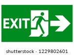 emergency fire exit door and... | Shutterstock .eps vector #1229802601