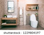 view of a spacious and elegant...   Shutterstock . vector #1229804197