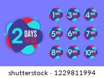 number of days left to go ... | Shutterstock .eps vector #1229811994