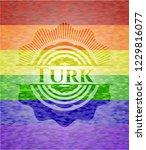 turk emblem on mosaic... | Shutterstock .eps vector #1229816077