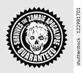 survives the zombie apocalypse  ... | Shutterstock .eps vector #122981701