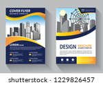 brochure template layout  cover ... | Shutterstock .eps vector #1229826457
