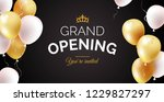 grand opening black banner with ... | Shutterstock .eps vector #1229827297