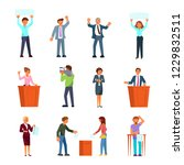 election campaign and voting... | Shutterstock .eps vector #1229832511