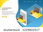 augmented reality landing page... | Shutterstock .eps vector #1229832517