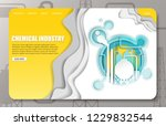 chemical industry landing page... | Shutterstock .eps vector #1229832544