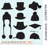 hats and caps silhouette...   Shutterstock .eps vector #122984794