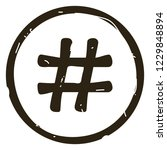 hashtag sign icon vector... | Shutterstock .eps vector #1229848894