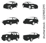 Sets of silhouette cars, create by vector.