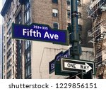 fifth ave or avenue sign in... | Shutterstock . vector #1229856151