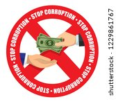 stop corruption icon money... | Shutterstock .eps vector #1229861767