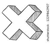 vector sketch reject symbol. no ...   Shutterstock .eps vector #1229862907