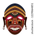 cartun style ethnic mask tribal ... | Shutterstock .eps vector #1229864851