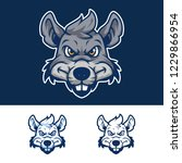 angry rat head mascot logo | Shutterstock .eps vector #1229866954