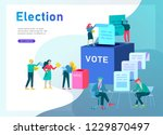 voting and election concept.... | Shutterstock .eps vector #1229870497