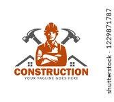 construction logo template ...   Shutterstock .eps vector #1229871787
