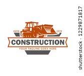 construction logo template ...   Shutterstock .eps vector #1229871817