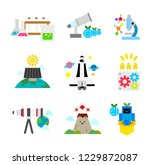 various science and technology... | Shutterstock .eps vector #1229872087