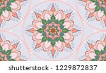 seamless pattern with oriental... | Shutterstock .eps vector #1229872837