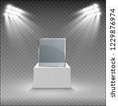 glass showcase for the... | Shutterstock .eps vector #1229876974