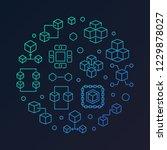 block chain technology vector...   Shutterstock .eps vector #1229878027