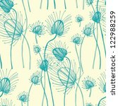 vector seamless pattern with... | Shutterstock .eps vector #122988259