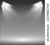 white glowing light.stadium... | Shutterstock .eps vector #1229882764