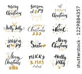 merry christmas calligraphic... | Shutterstock .eps vector #1229884357